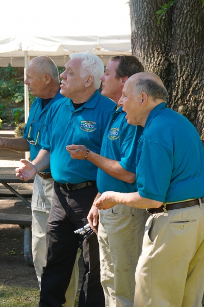 Jerry Hermann and his barbershop quartet